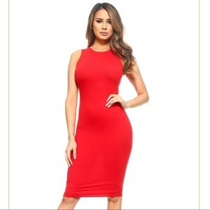 Dresses & Skirts - Red Midi Dress
